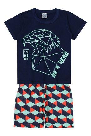 Conjunto Menino de Verão Camiseta e Bermuda - Kontrato