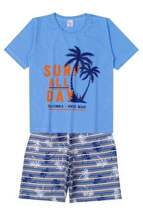 Conjunto Menino de Verão Camiseta e Bermuda - Liga Nessa