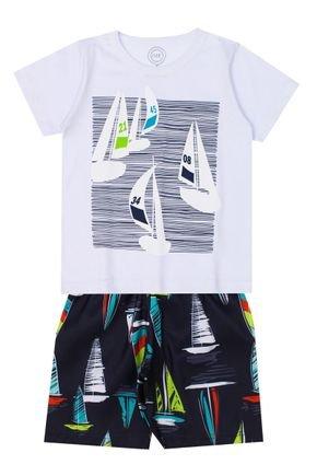 Conjunto Menino de Verão Camiseta e Bermuda - O2E